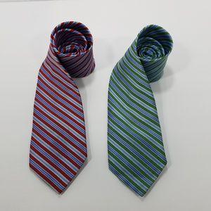 Brooks Brothers 346 Mens Tie - 2 Ties